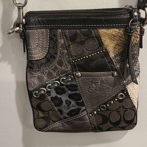 Coach patchwork crossbody purse